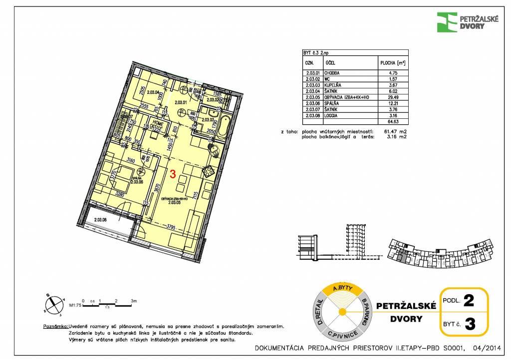 Predaj 2 izbového bytu v novostavbe Petržálske dvory