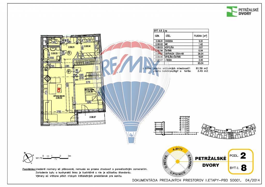 Predaj 2 izb. bytu v novostavbe Petržálske dvory