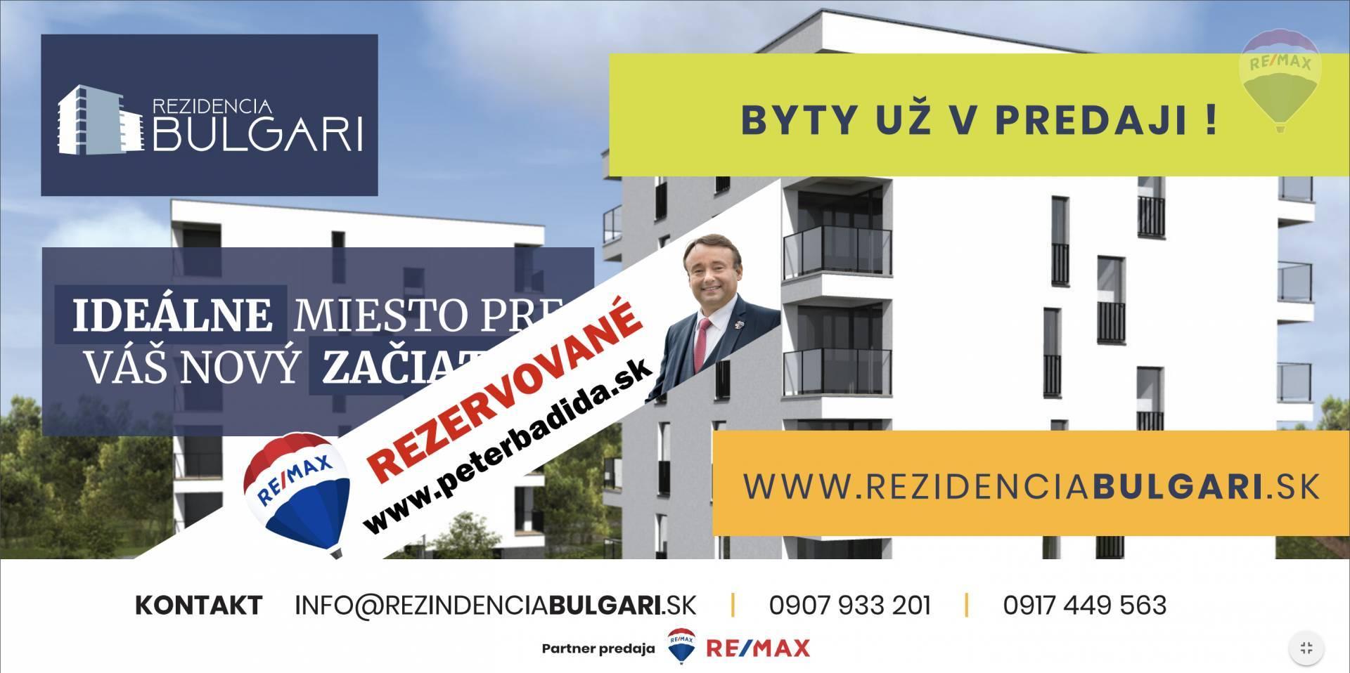 --- R E Z E R V O V A N É --- Na predaj 2 izbový byt Bulharská ulica v Prešove
