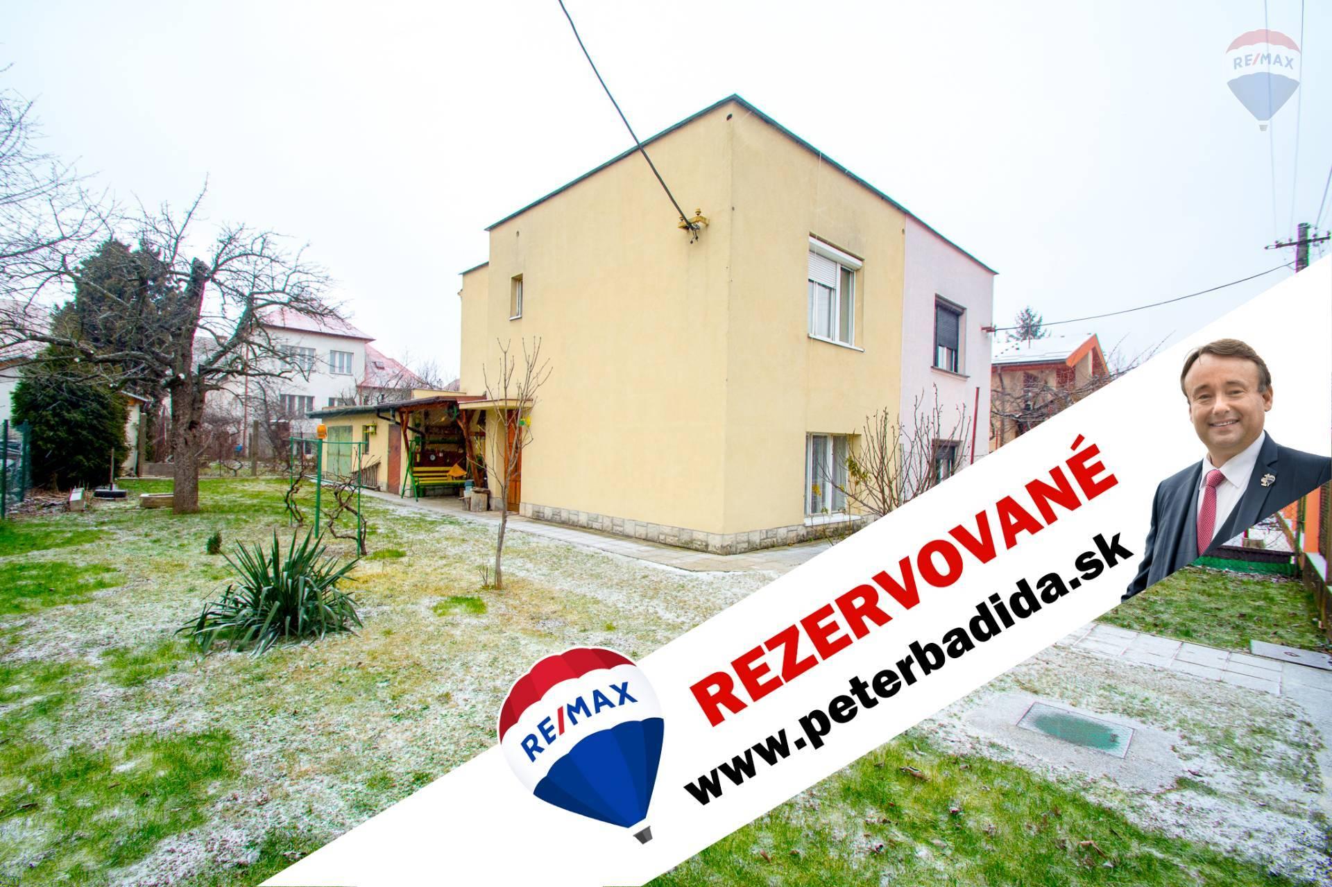 ***  R E Z E R V O V A N É  ***   Na predaj rodinný dom Moravská ulica  Košice