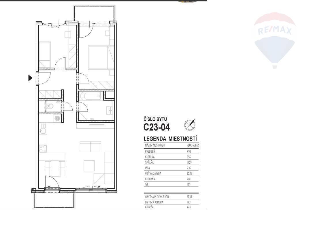 Podledné 2 voľné byty! Predaj novostavba 3 izbový byt Nitra