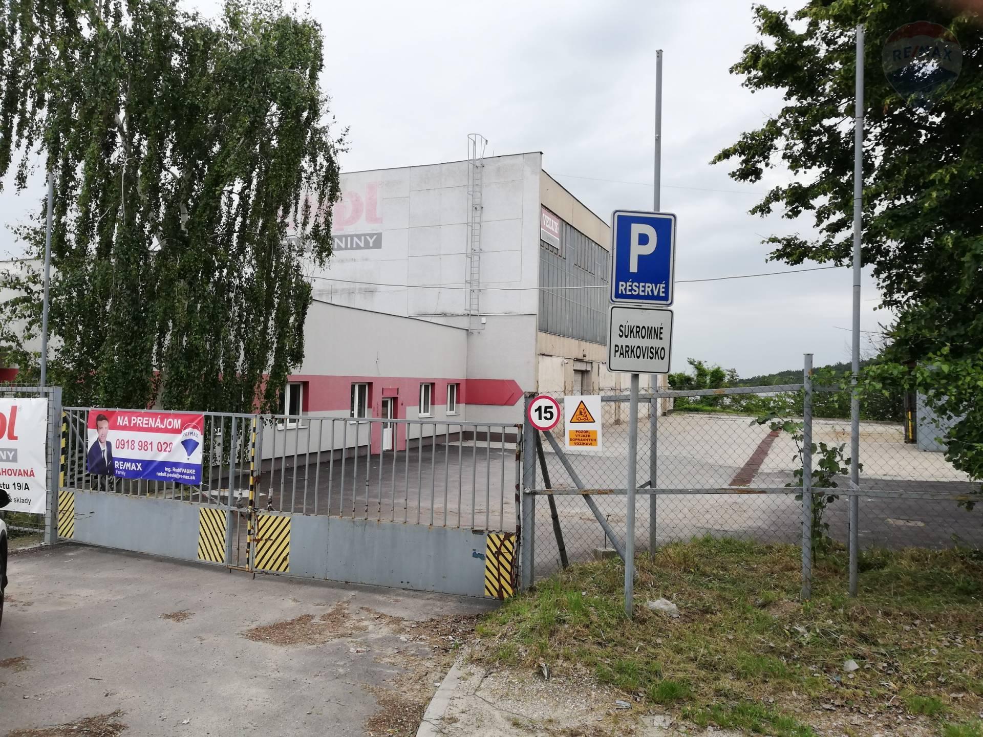 Prenájom obchodno prevádzkový skladový objekt Nitra Cabajská