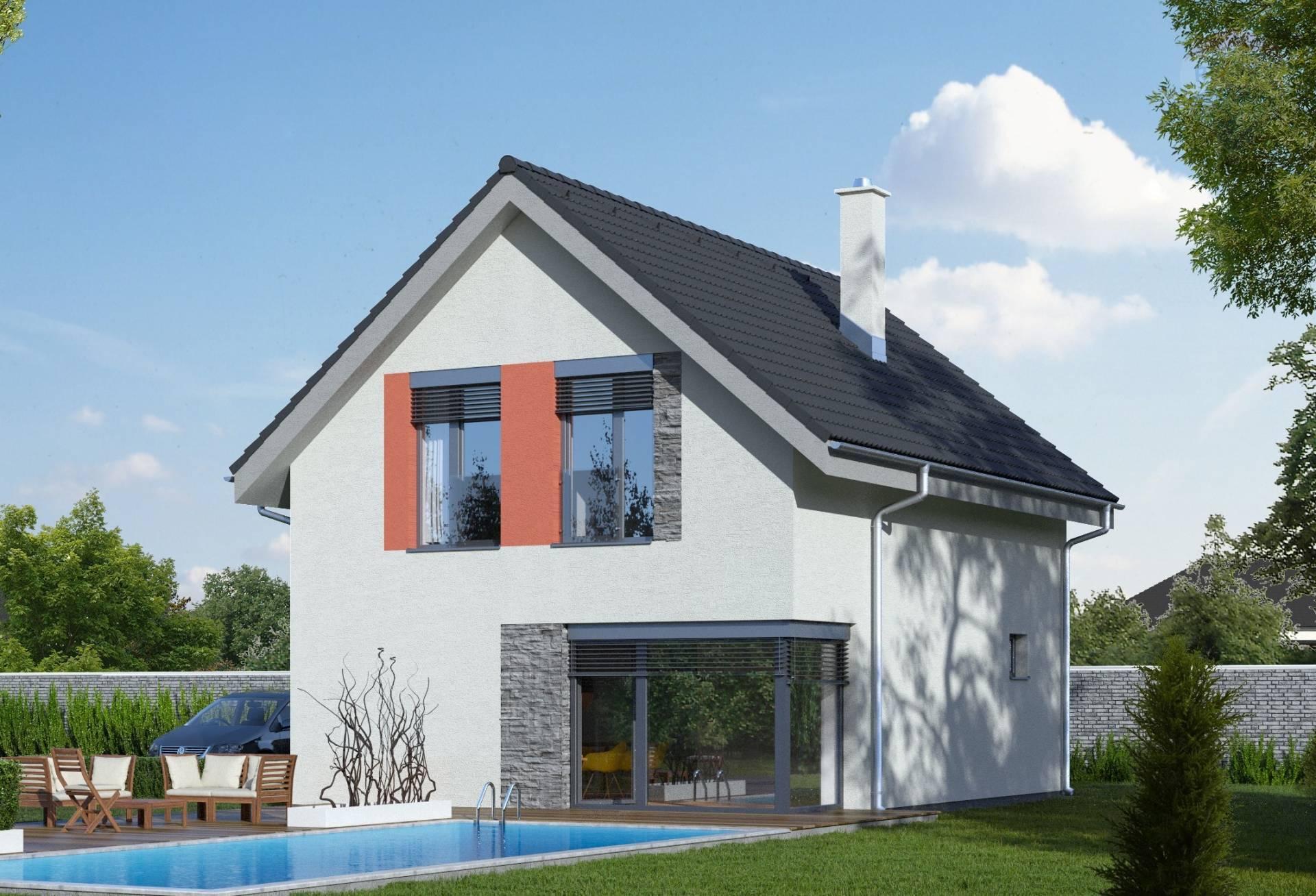 Predaj poschodového domu novostavba Veľký Lapáš 102 m2.