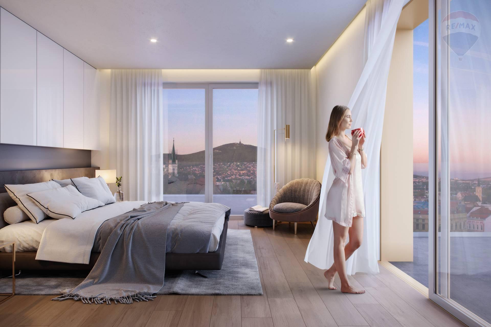 Predaj luxusný 3-izbový byt s dvoma veľkými balkónmi v centre mesta Nitra v ORBIS Premium.