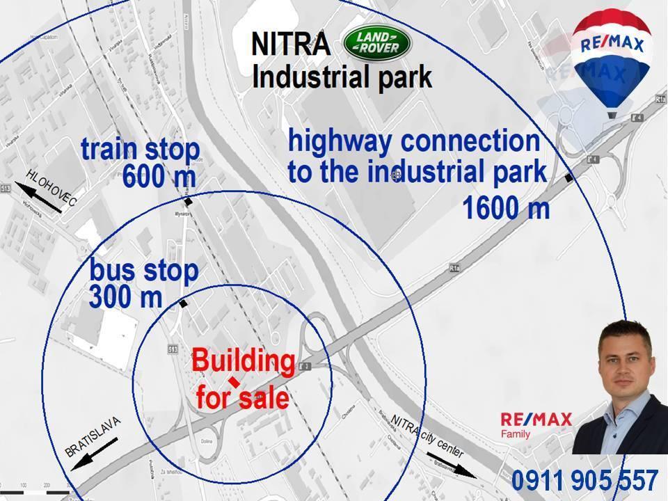 Predaj budovy v Nitre s možnosťou prestavby na výrobu a ubytovňu.