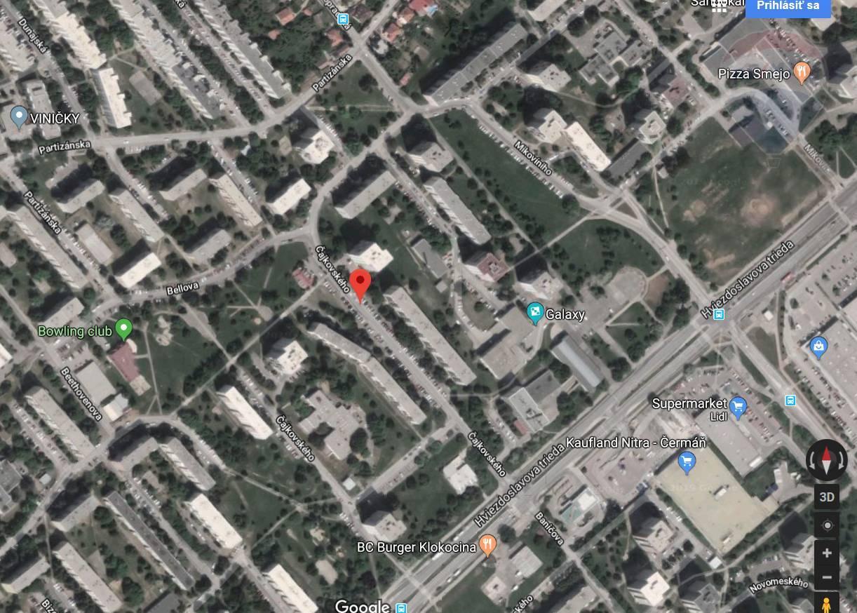 Prenájom 3-izbový byt Čajkovského, Nitra