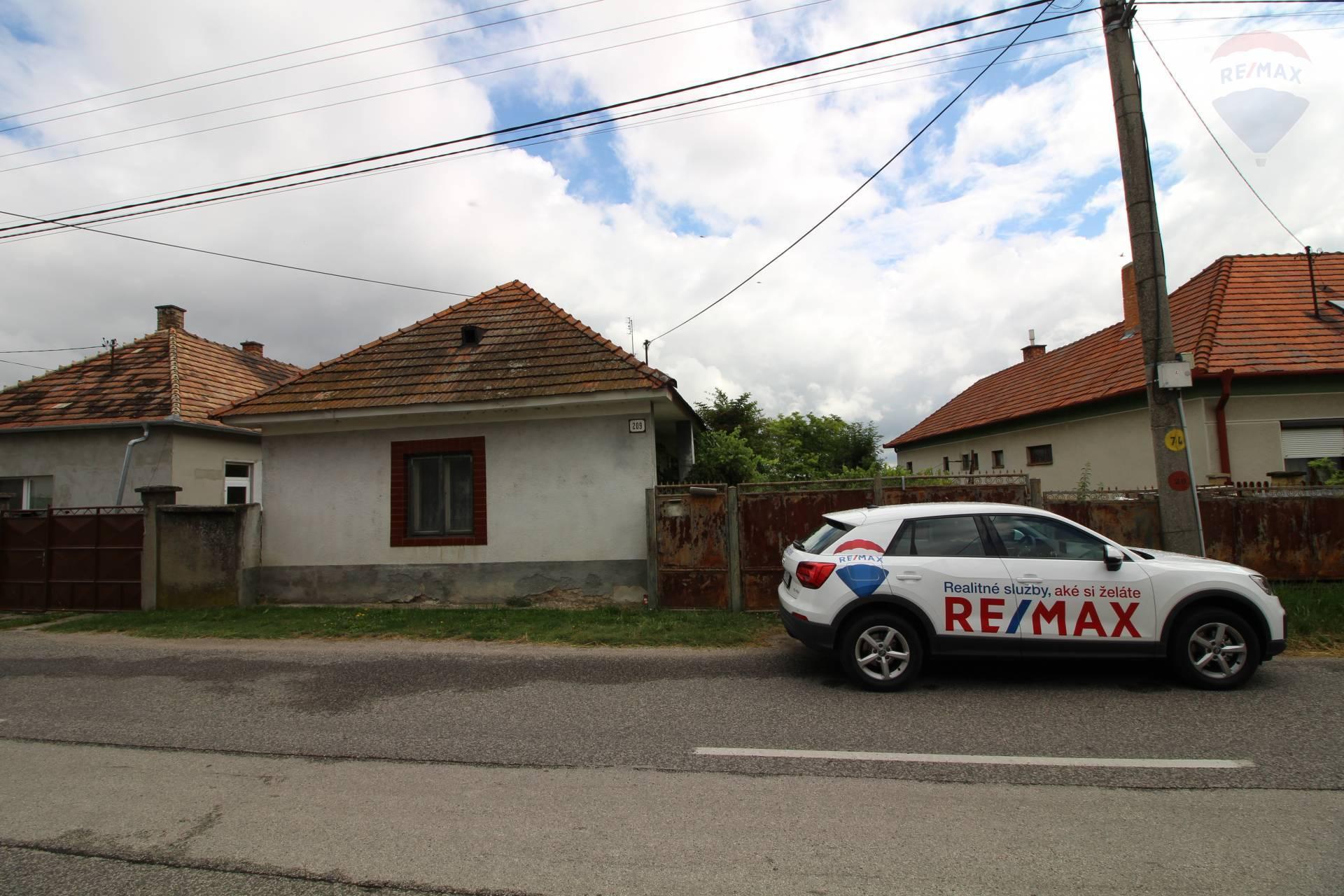 Predaj: 2-izbový rodinný dom, veľký pozemok, Povoda, okres Dunajská Streda