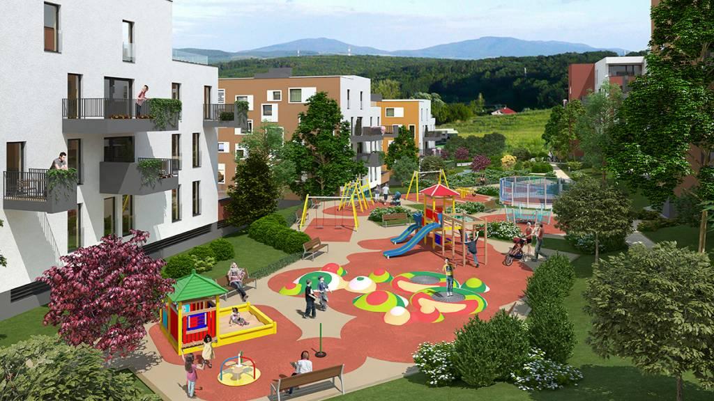 Zelená stráň residential park - zelena stráň