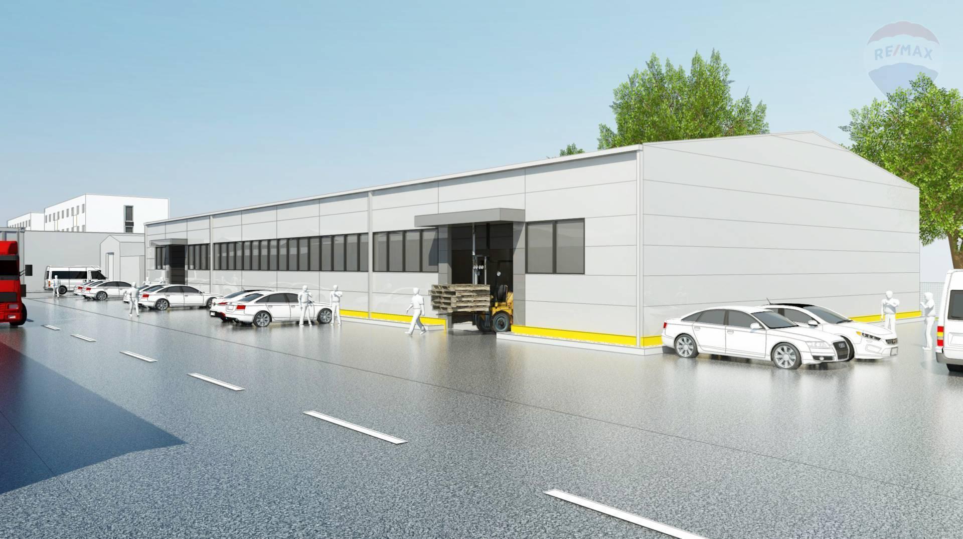 Nová skladova Hala 300 m2 v Košiciach