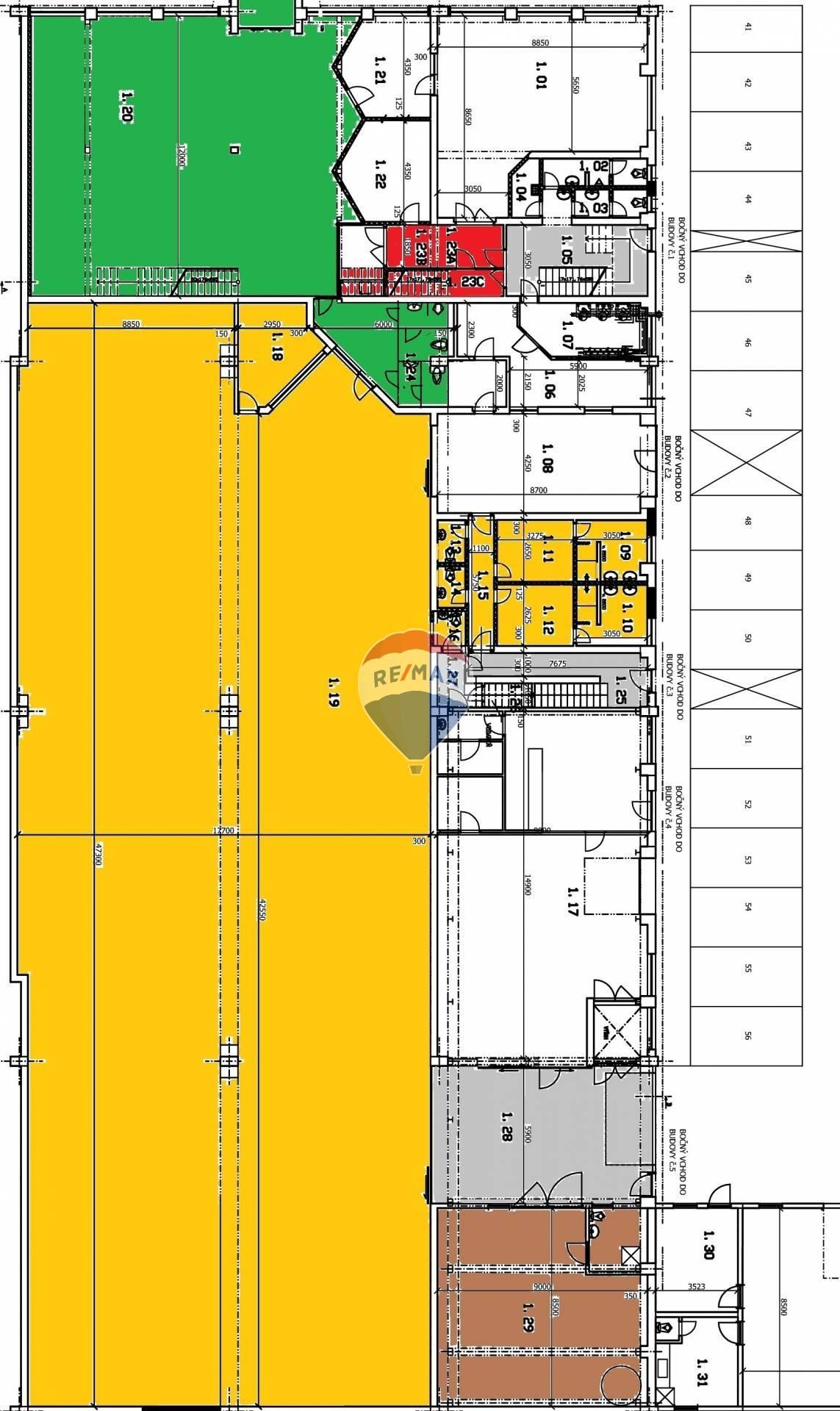 Prenájom komerčného priestoru 907 m2, Košice - Juh -