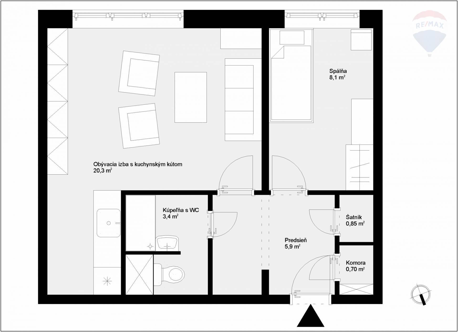 PREDAJ slnečný 1,5-izb. byt BA - Nové Mesto