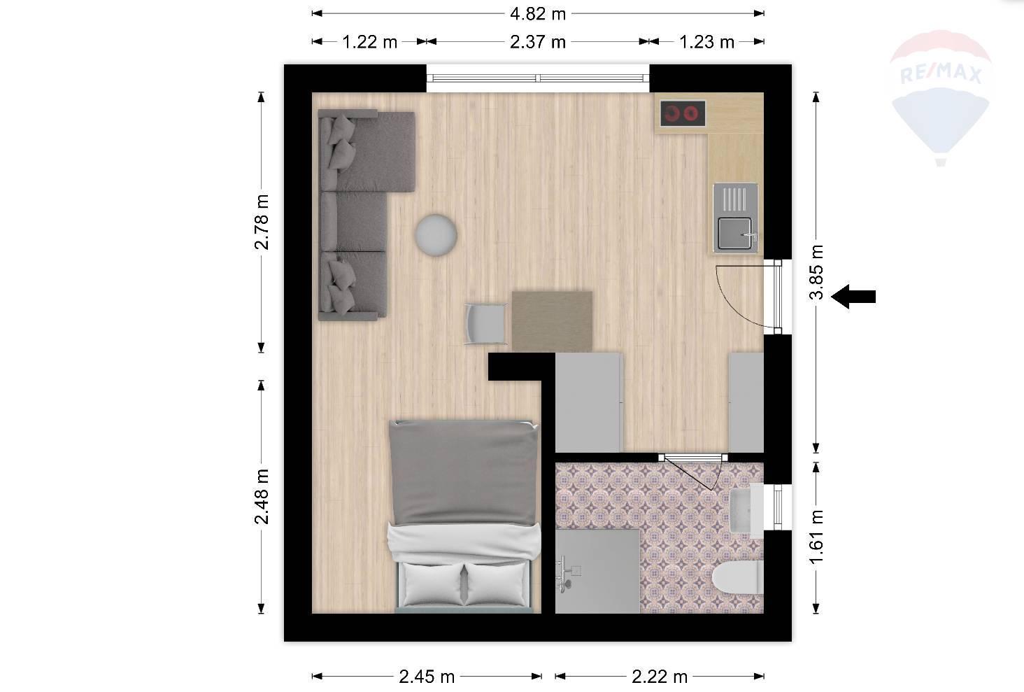 Prenájom bytu (1 izbový) 27 m2, Bratislava - Staré Mesto -