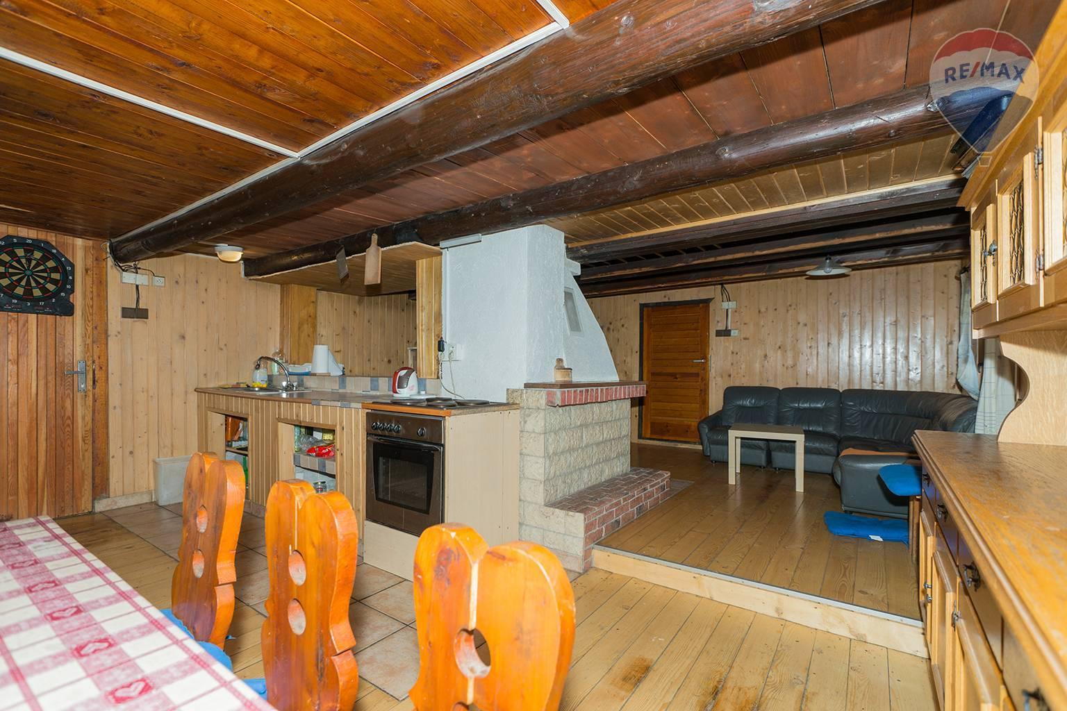 Predaj chaty 110 m2, Vyšná Boca - spoločenská miestnosť