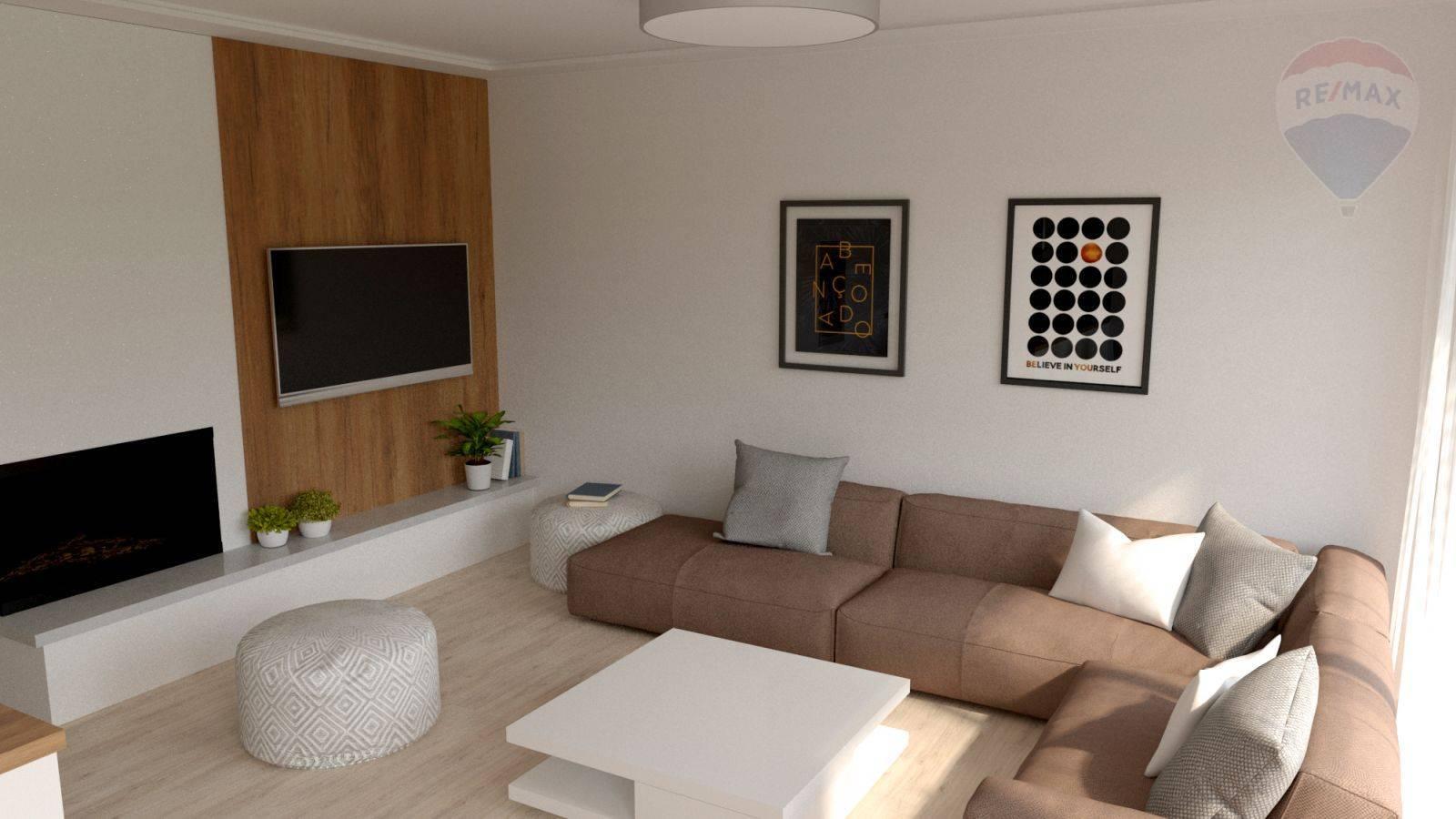 Predaj domu 100 m2, Šamorín - vizualizácia obývačka
