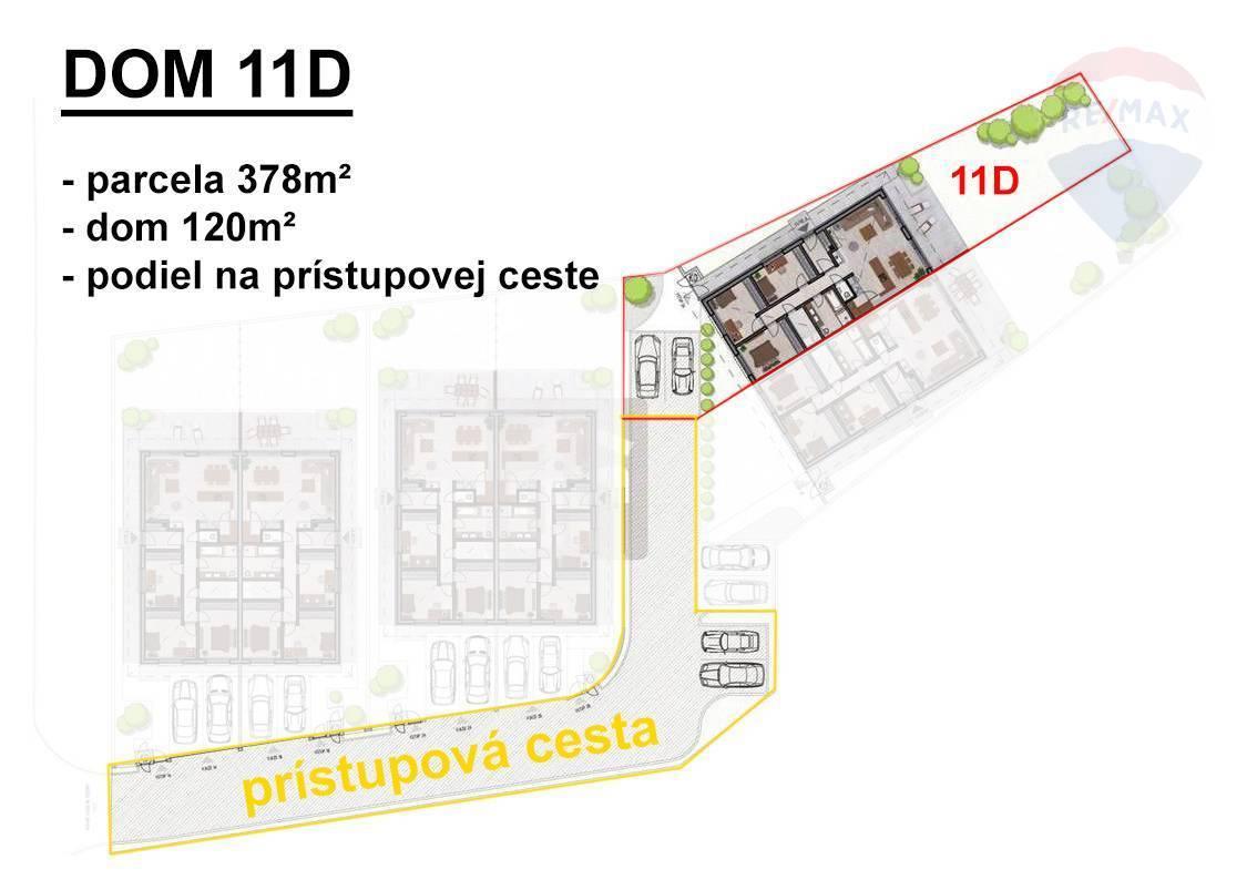 Predaj domu 100 m2, Šamorín - Rodinný dom Mliečno - situácia
