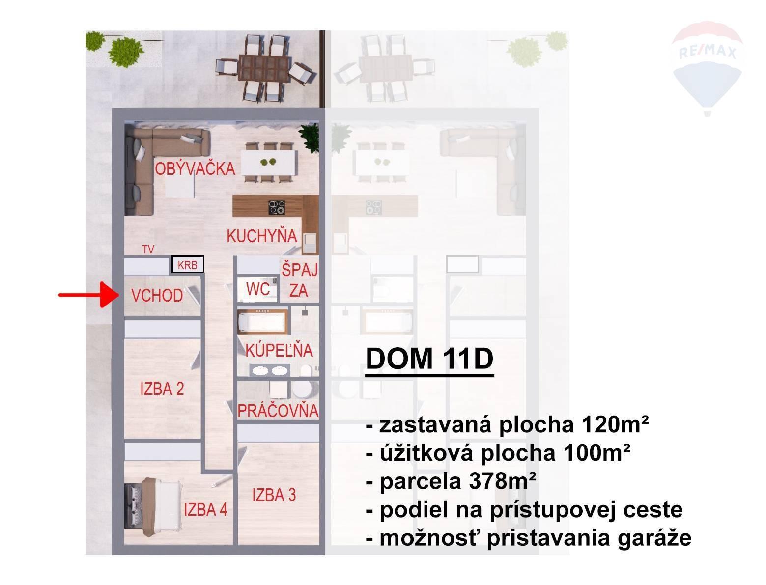 Predaj domu 100 m2, Šamorín - Rodinný dom Mliečno - pôdorys