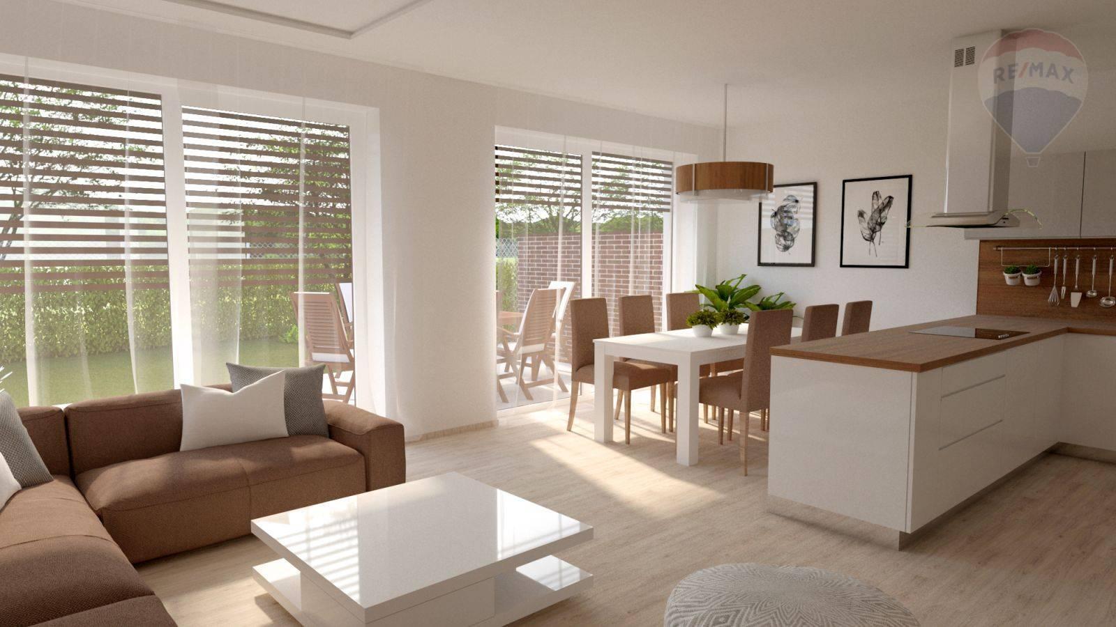 Predaj domu 100 m2, Šamorín - vizualizácia denná časť