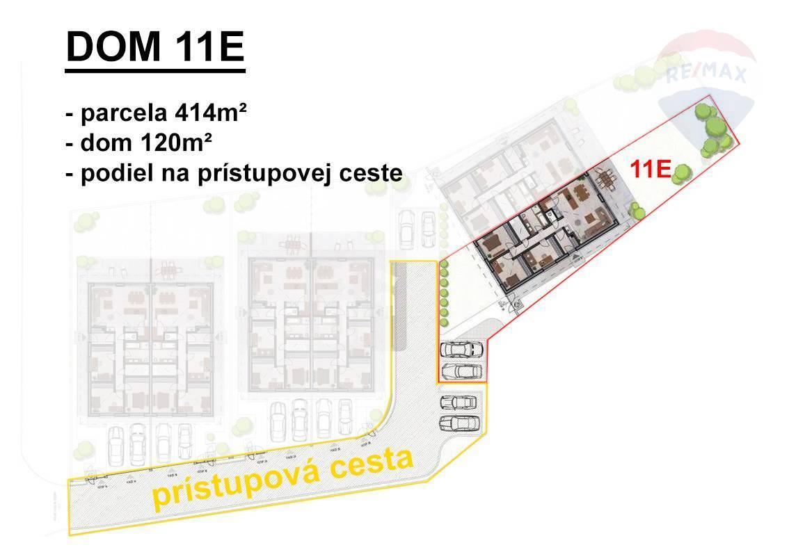 Novučký 4-izbový rodinný dom v súkromnej ulici v Šamoríne časť Mliečno