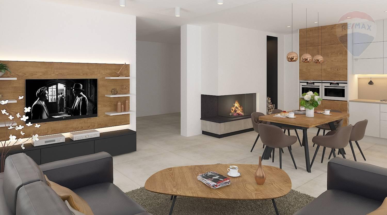 Predaj domu 87 m2, Kyselica - vizualizácia kuchyna a obývacka