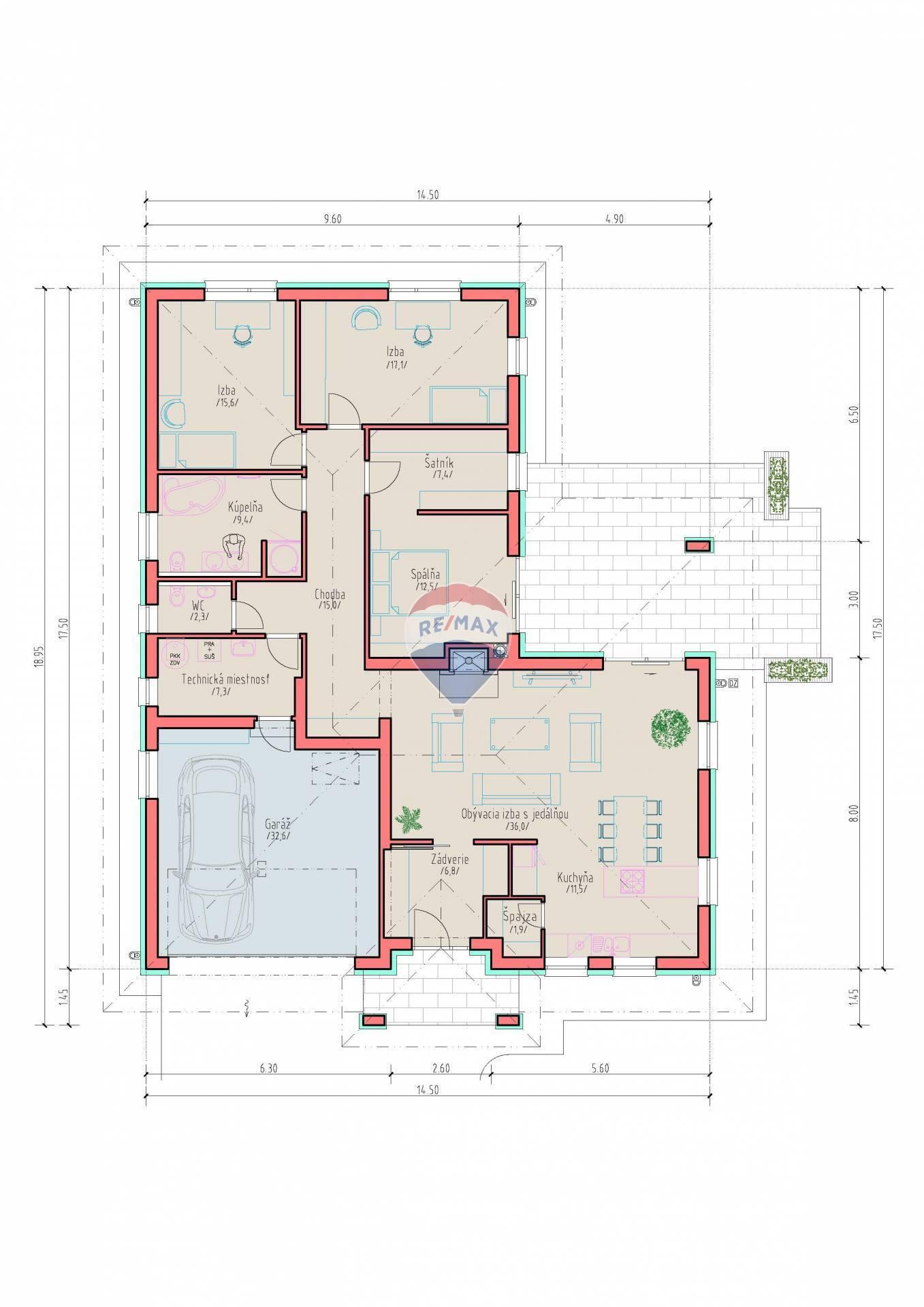 Na predaj : 4 izbový RD s dvojgarážou v Šamoríne - Labyrinth