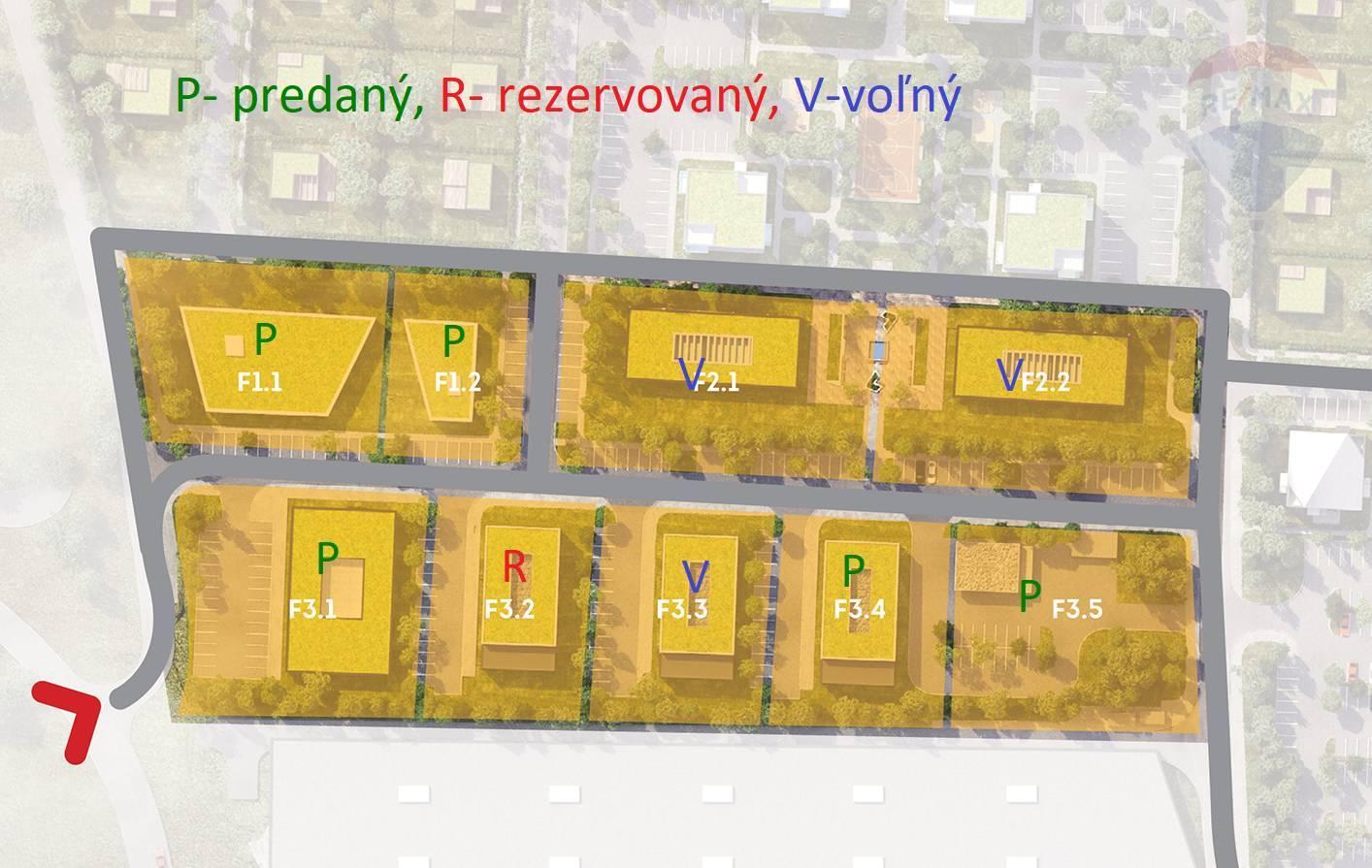 """REZERVOVANÉ - Stavebný pozemok F3.2- 1491 m2  občiansku vybavenosť  """"Kasárne"""" Brezno"""