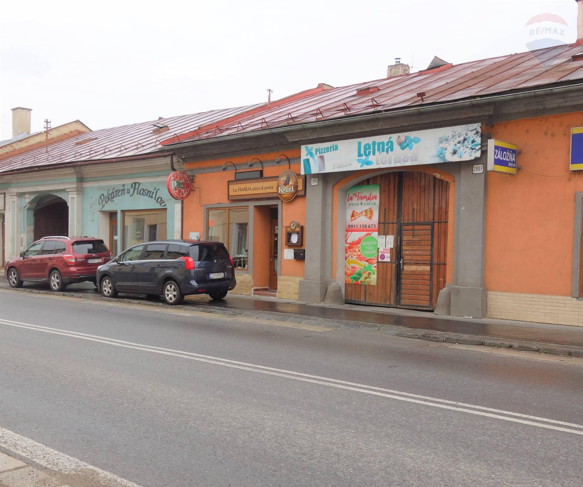 Predaj: Polyfunkčný objekt v Brezne / so zriadenou prevádzkou pizzerie/