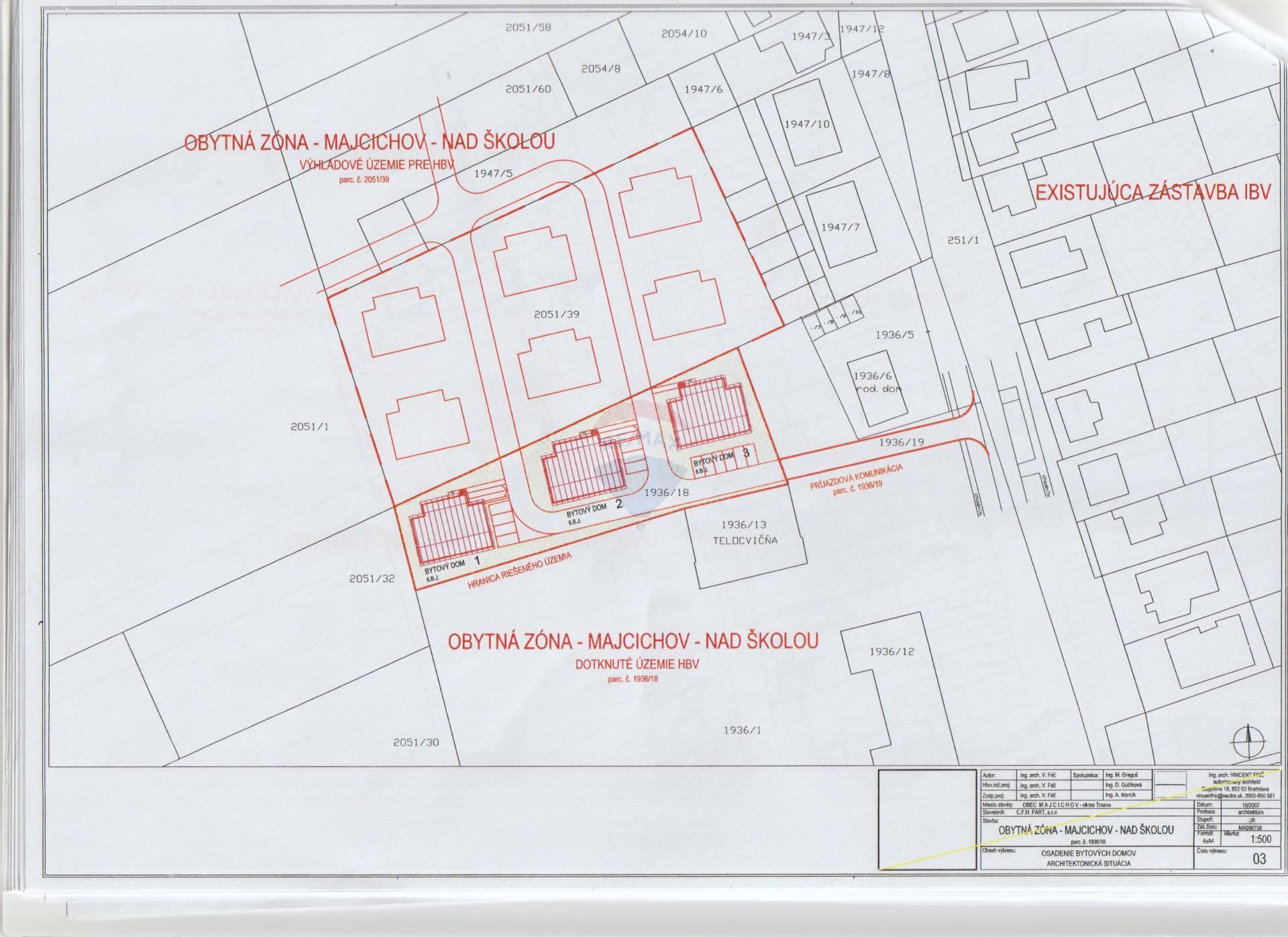 Predaj pozemku 2301 m2, Majcichov -