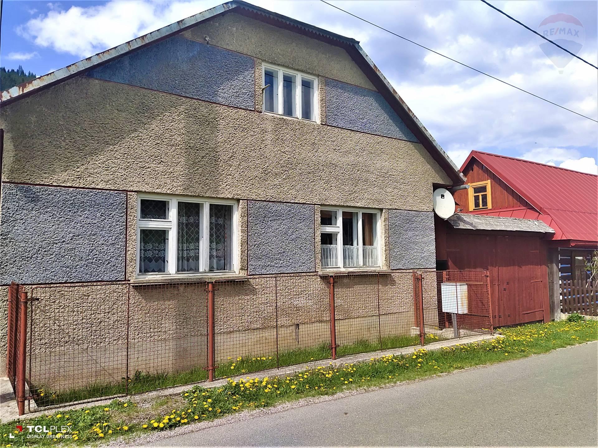 Na predaj rodinný dom, záhrada 2.583 m2, hospodárske budovy, obec Osturňa, Kežmarok