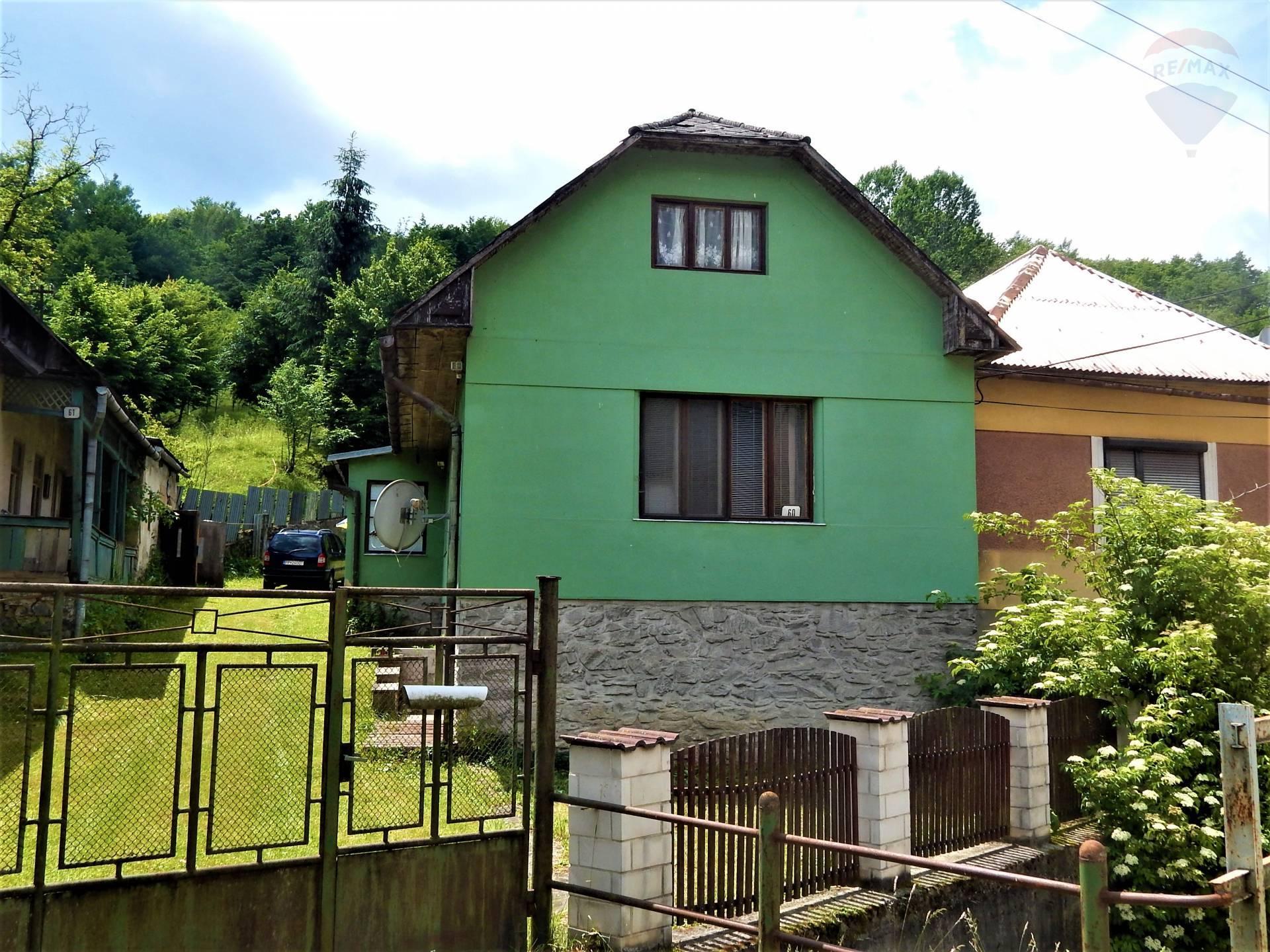 Na predaj dva rodinné domy, (chalupa)záhrada 1.278 m2, obec Turčok, Revúca, Gemer