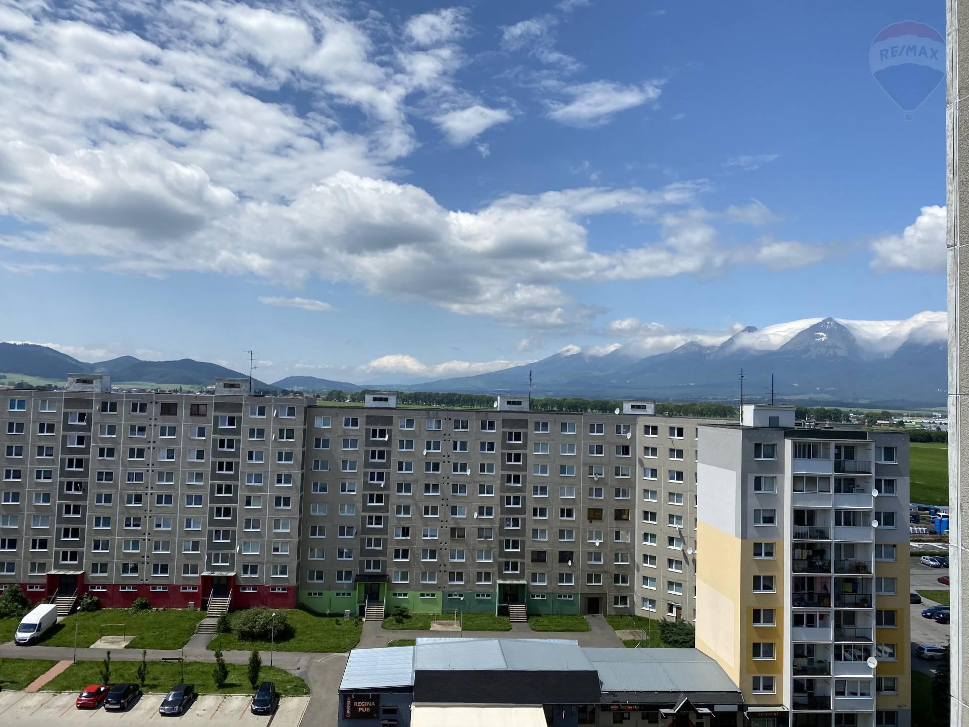 Predaj 3-izbový byt 75 m2, loggia v Poprade, ul. Podjavorinskej, 9.poschodie