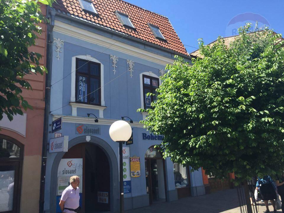 REZERVÁCIA. Na prenájom ubytovacie priestory v Prešove na Hlavnej ulici