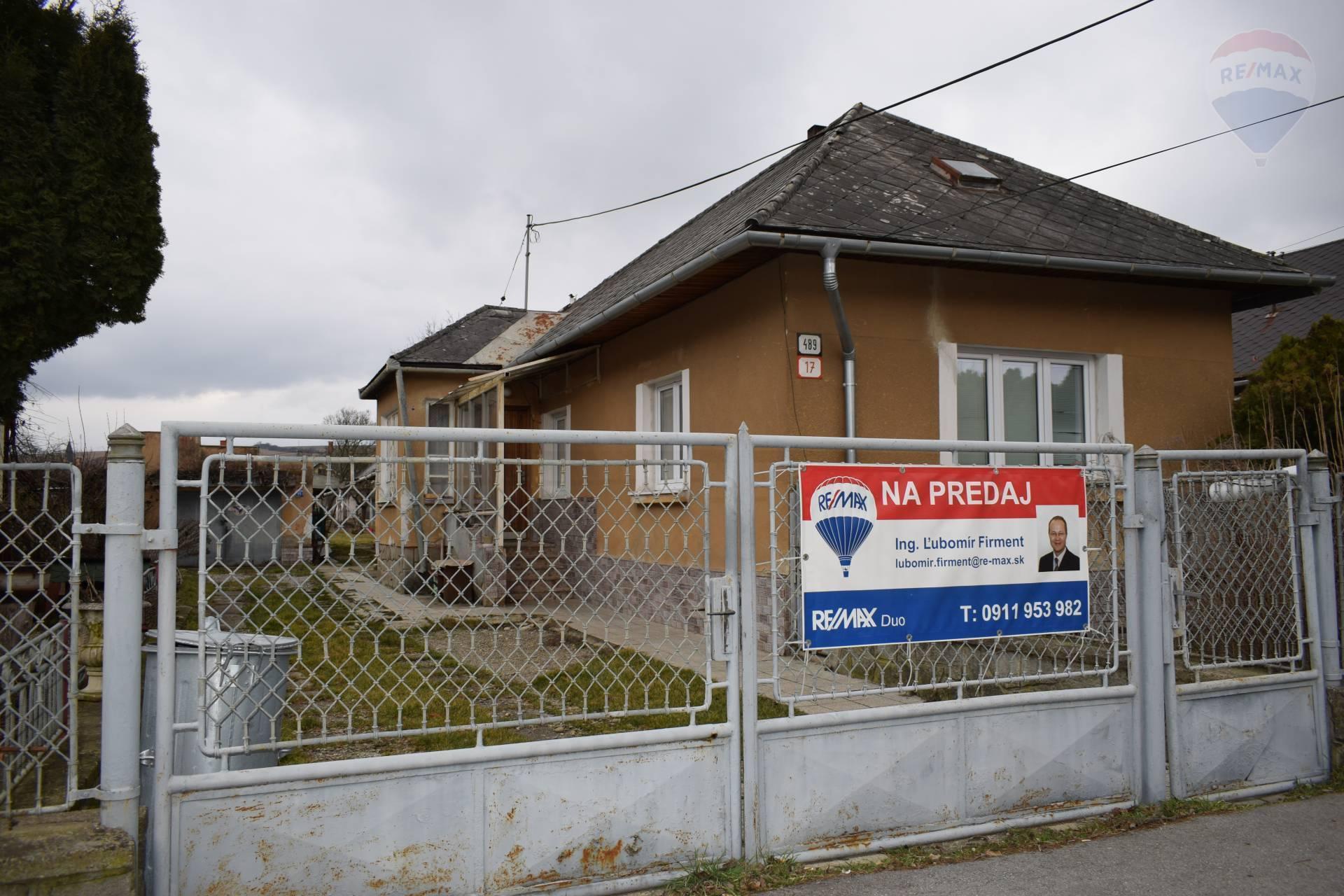 Predaj rodinného domu s pozemkom 857 m2,Veľký Šariš