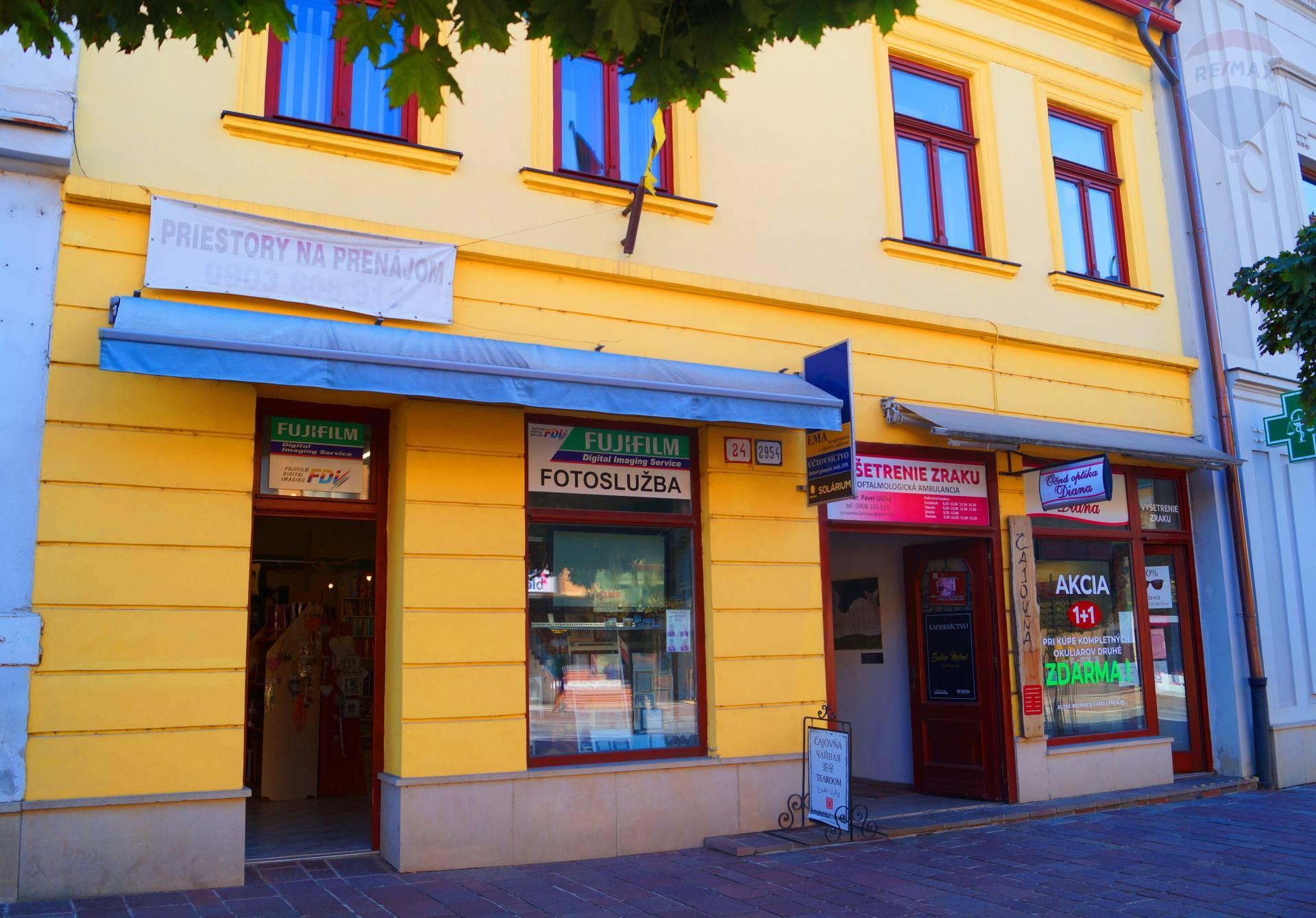 Obchodné priestory na prenájom, Hlavná ulica, Prešov