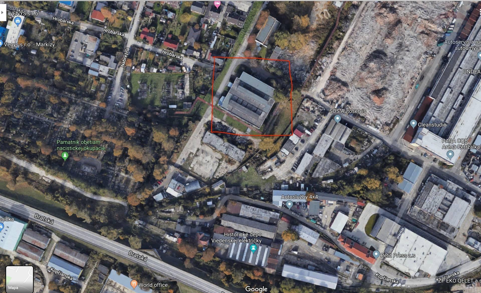 Predaj, priemyselný objekt (491 m2), pozemok (844 m2) v Petržalke