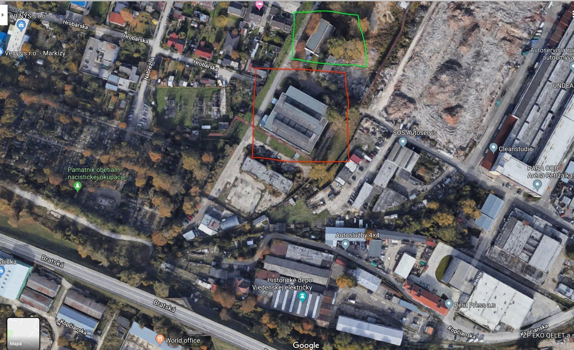 Prenájom, priemyselná hala 2250 m2, Bratislava - Petržalka