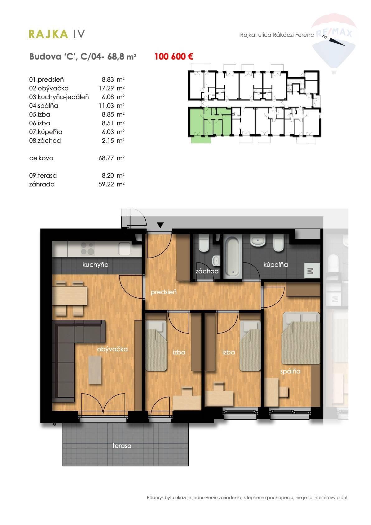 Predaj 4-izbový byt spredzáhradkou, novostavba