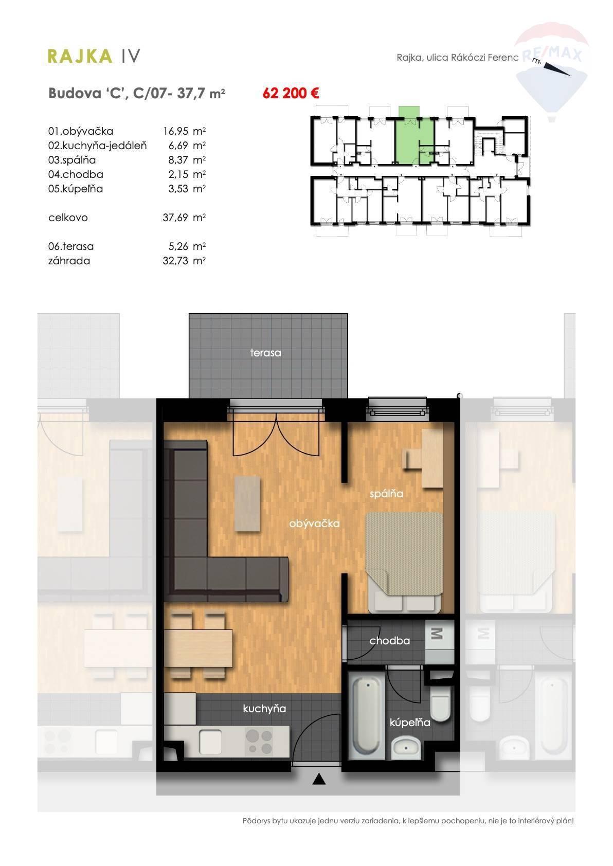 Predaj 2-izbový byt spredzáhradkou, novostavba