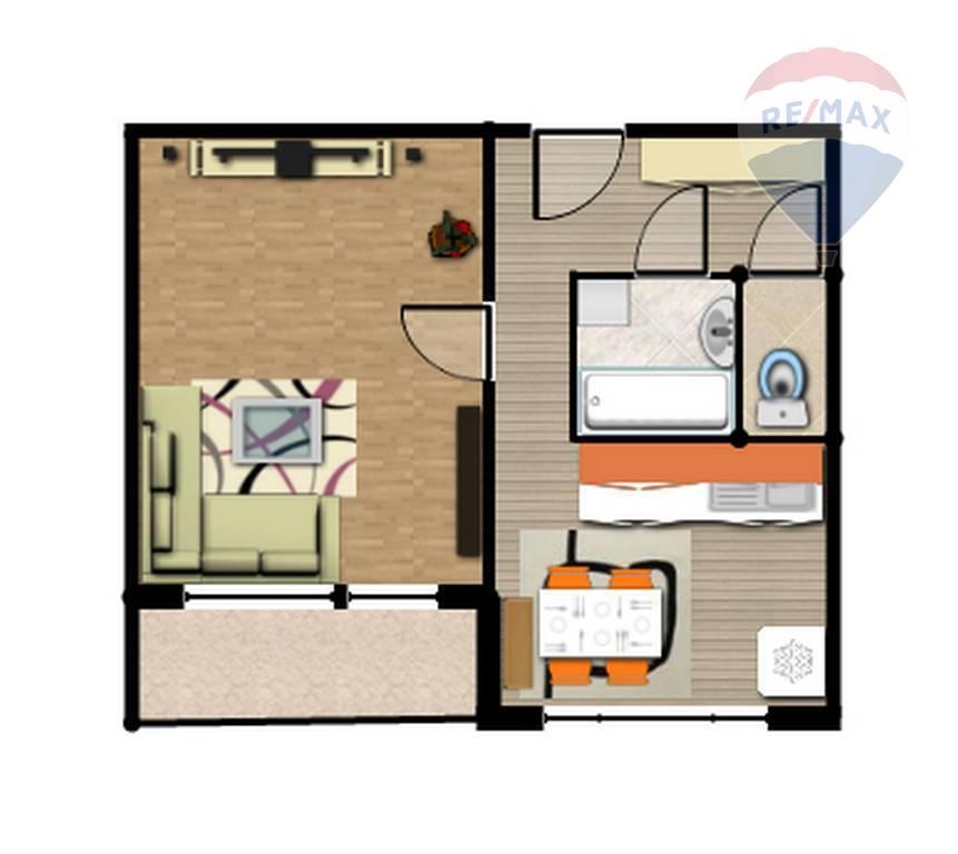 Rezervovaný: 1-izbový byt s logiou, blízko Auparku, Jantárova ulica, Košice - Juh