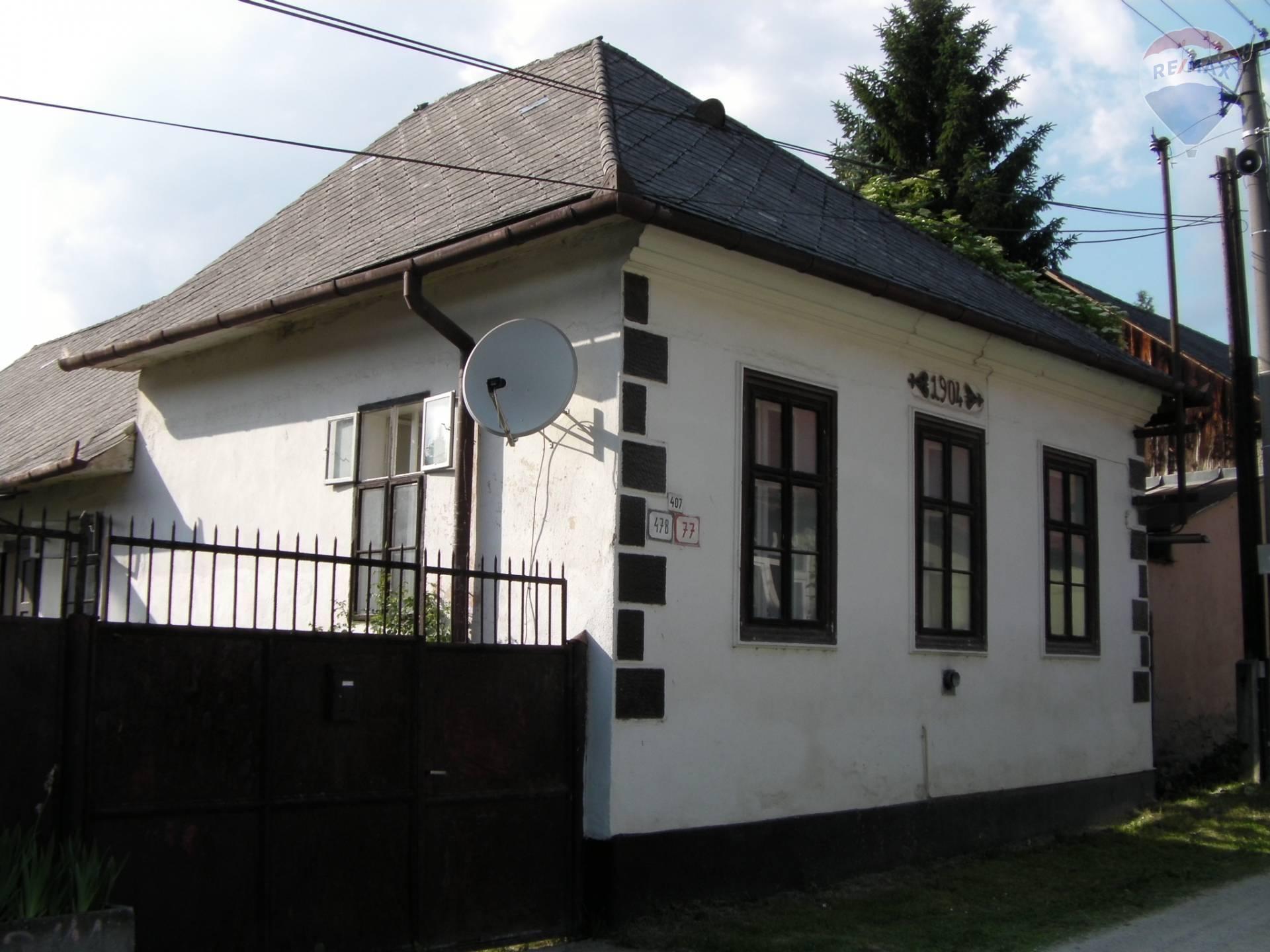 Gazdovský dom v obci Medzev