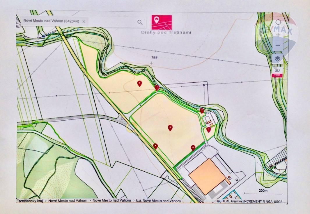 Predaj pozemku 157581 m2, Nové Mesto nad Váhom -