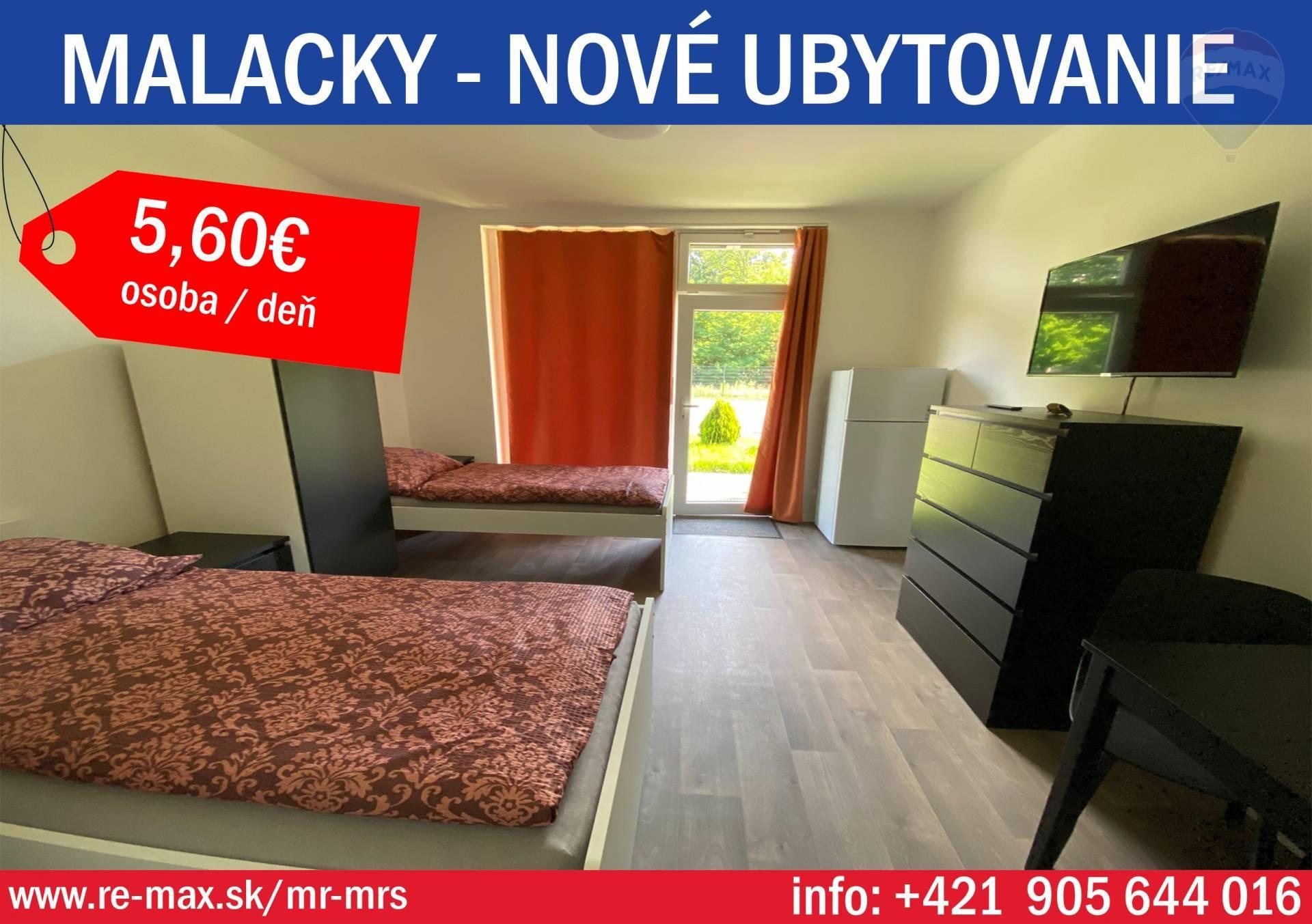 Nová cena  Prenájom,  nové ubytovcie kapacity Malacky