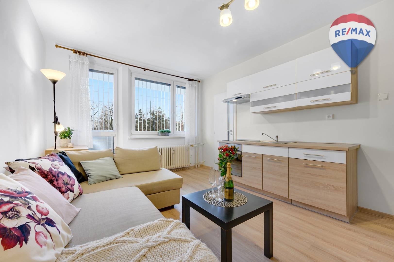1 izbový byt dispozične upravený na 1,5 izbový na Karloveskej ulici