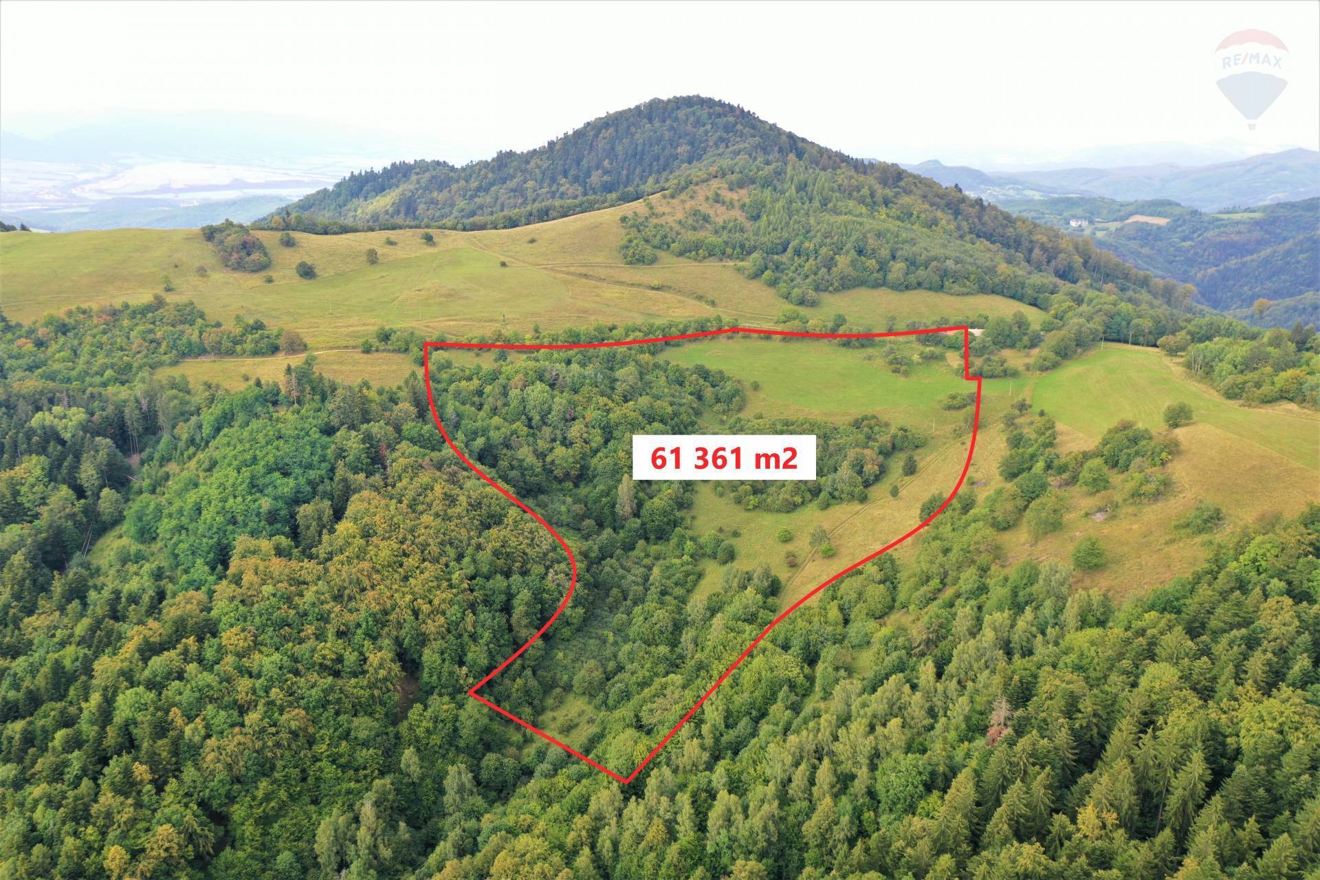 Predaj pozemku 61361 m2, Hodruša-Hámre -