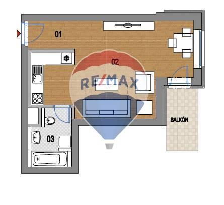 PREDAJ Novostavba (1 izbový byt) 38,7m2, Spišská Nová Ves centrum